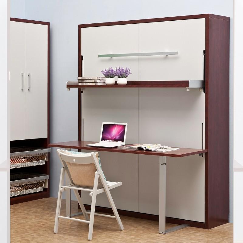 Shelf Desk Queen Vertical, Queen Bed And Desk