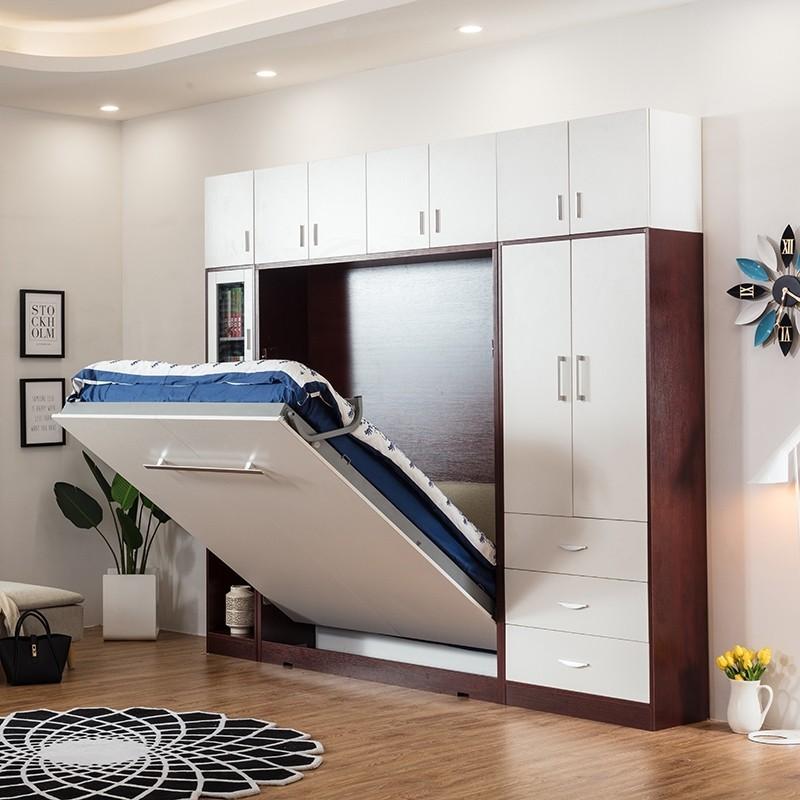 Shelf Queen Vertical Hidden Wall Bed